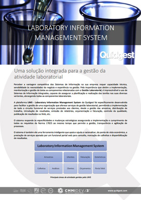 brochura Laboratory Information Management System da Quidgest